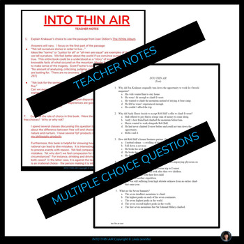 Into thin air essays