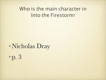 Into the Firestorm, A Novel of San Francisco 1906 by Deborah Hopkinson - Quiz