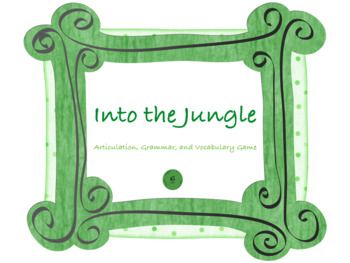 Into the Jungle Articulation, Grammar, and Vocabulary Game