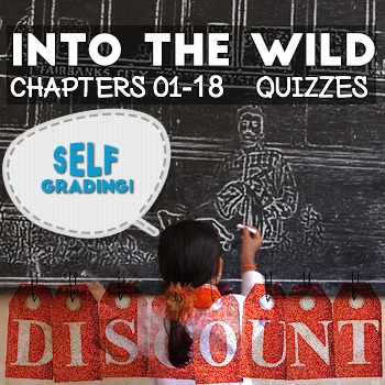 Into the Wild - Chapter Quizzes: Chapters 01-18 - 18% Discount! Self-Grading!