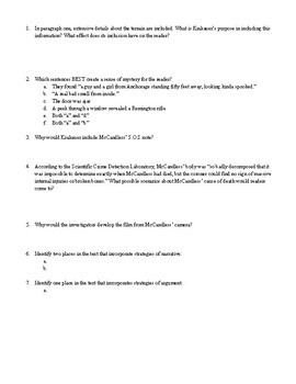 Into the Wild Close Reading Activity for Ch.2