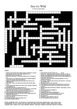 Into the Wild (Movie) - Crossword Puzzle