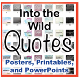 Into the Wild Novel Quotes Posters and Powerpoints