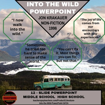 Literature - Into the Wild PowerPoint