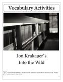 Into the Wild by Jon Kraukauer Vocabulary Unit Plan