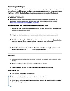 Into the Wild research essay outline