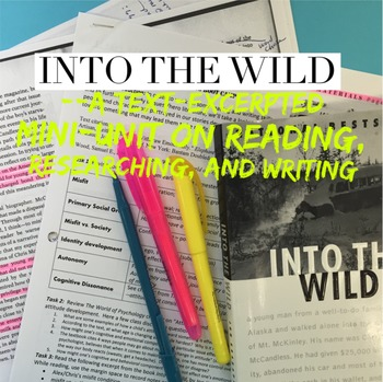 Into the Wild -- text excerpted mini-unit on reading, rese