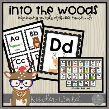 Into the Woods Classroom Decor Beginning Sounds Alphabet Set