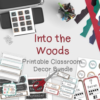 Rustic Classroom Decor Set- Shabby Chic Barn Wood