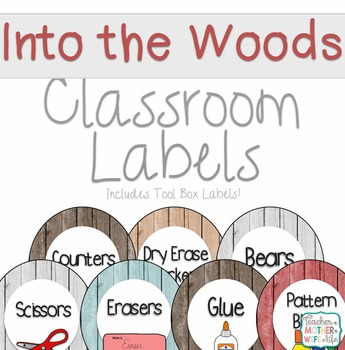 Classroom Labels Into the Woods