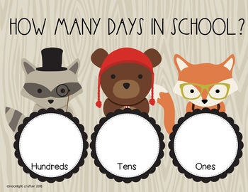 Into the Woods Days in School Chart