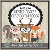 Into the Woods Hipster Forest Animal Themed Decor EDITABLE