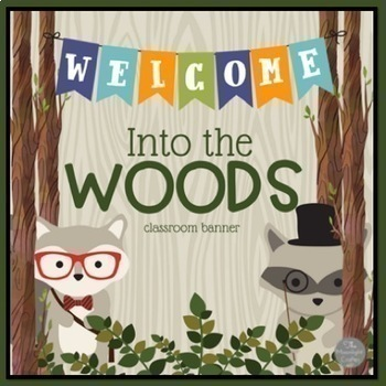 Into the Woods Hipster Forest Animals Classroom Bundle with Editable Features