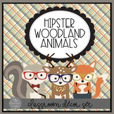 Into the Woods Hipster Forest Animals Room Decor Set EDITABLE POWERPOINT