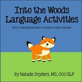 Into the Woods Language Games - Directions, Basic Concepts, Pronouns, & WH Q's