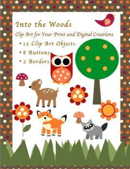 Into the Woods~ Over 20 Clip Art Pieces for Personal and Commercial Use