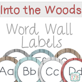 Word Wall Labels Into the Woods