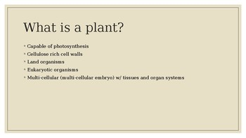 Into to Botany