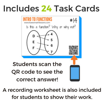 Into to Functions Task Cards