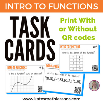 Intro to Functions Task Cards