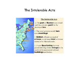 Intolerable Acts and First Continental Congress Simple Story