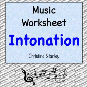 Intonation Music Worksheet