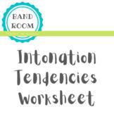 Intonation Tendencies Worksheet