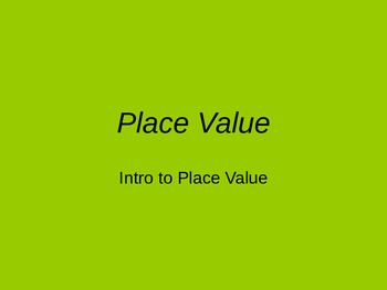 Intrdouction to Place Value Powerpoint