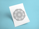 Intricate Mandala Coloring Sheet Printable