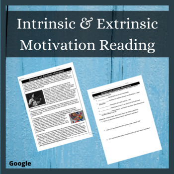 Intrinsic & Extrinsic Motivation Reading with Question & Skit