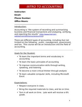 Intro Accounting Syllabus (DOC)