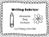 Intro,Body, Conclusion Paragraph Rubrics