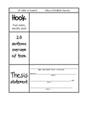 Intro Paragraph (Argumentative) Graphic Organizer for Interactive Notebooks