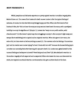 Intro. Paragraphs and a Body Paragraph examples