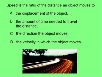 "Intro. Physics ActivInspire Review Lessons I & II ""Distance, Speed & Velocity"""