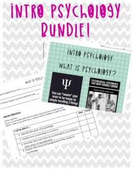 Bundle Intro Psych: Unit Organizer, Lessons, Video Guides, Handouts, Lectures..
