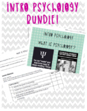 Bundle Intro Psych: Unit Organizer, Lessons, Video Guides,