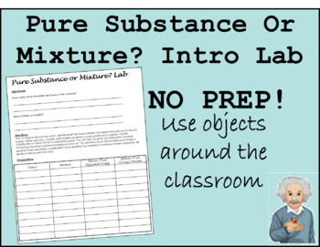 Intro. Pure Substance or Mixture Lab (Editable)