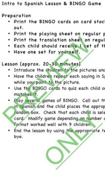 Intro Spanish Lesson