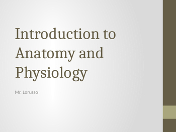 Intro To Anatomy and Physiology PowerPoint