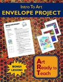 Intro To Art Lesson - ENVELOPE PROJECT - Directions & Samples