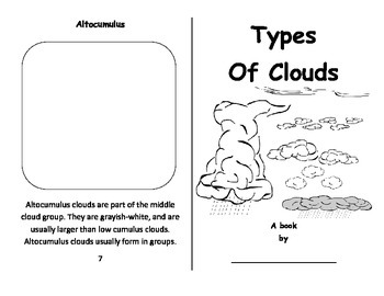 Intro To Clouds - Foldable Booklet - Cut and Paste