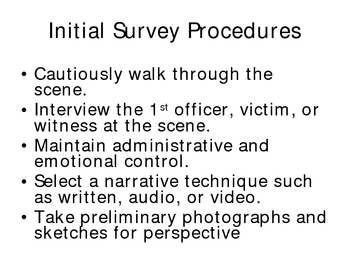 Intro to Crime Scene Procedures