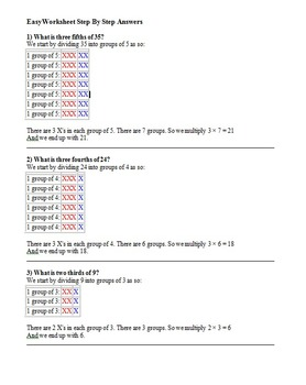 Intro To Fractions 3-5+ Grade Common Core!