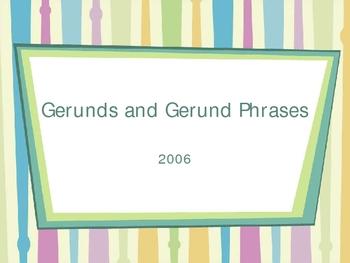 Intro to Grammar Concept:  Gerunds & Gerund Phrases