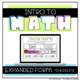 Intro To Math - Expanded Form To 4 Digits
