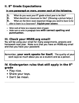 Intro Vocabulary for Middle School students IEP ICT CCSS