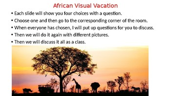 Intro activity for Africa