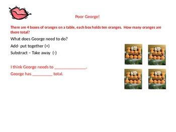 Intro lesson for adding tens- First Grade Fun