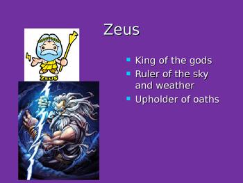 Intro the Greek gods and goddess